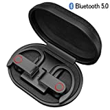 iAmotus Écouteur Bluetooth 5.0, Oreillette sans Fil avec étui de Chargement Portable Auriculaires Bluetooth Sport avec Mic Intégré Mains-Libres CVC 8.0 Réduction du Bruit Casque pour iOS Android