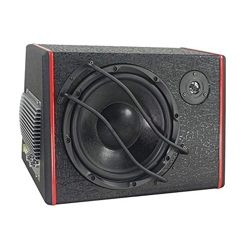 LRXGOODLUKE Aktiver Subwoofer, Subwoofer High Fidelity Restore Verlustfreie Klangqualität Großes Magnethorn Geräuscharm für geeignetes Auto