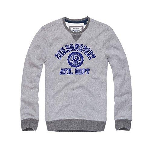 Cordon Sport Berlin Herren Sweat-Shirt Pullover Stan Hoodies grau (XXL, grau mit blau (66 Navy))