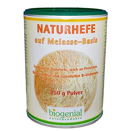 Biogenial Naturhefe auf Melasse-Basis zum Würzen und Anreicherung der Nahrung mit Eiweiß und Vitamin B, 350 g