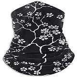 Linger In Diadema Pasamontañas Janpan Flores de Cerezo japonesas Calentador de Cuello Blanco y Negro Casco Forro Hatliner