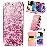 Funda para Samsung Galaxy A51 5G, de piel sintética a prueba de golpes, con ranuras para tarjetas, cierre magnético, función atril, protección completa, para Samsung Galaxy A51 5G, color rosa