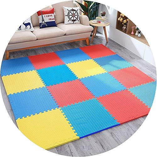 YANGJUN-alfombra puzzle Suelo Goma Eva Entrelazar Color Sólido Bebé Proteccion Anti Caída 2 Tallas, 4 Tipos De Juego (Color : B, Size : 60x60x1.2cm-10PCS.)