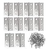 JZK 10 x Bisagras de acero Inoxidable 63mm bisagra de gabinete con tornillos de repuesto para montarlas en puertas y ventanas o cajón