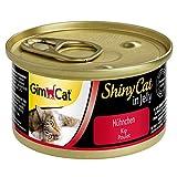 GimCat ShinyCat in Jelly Hühnchen - Nassfutter mit Fleisch und Taurin für Katzen - 24 Dosen (24 x 70 g)