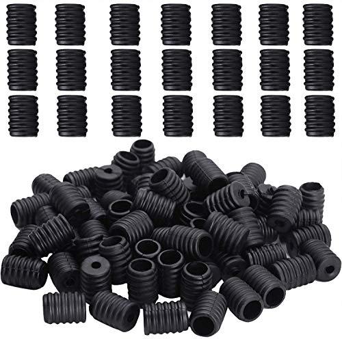 100 Piezas Cierres de Silicona para Tiras Elásticas, Tope de Cordón Ajustable, Antideslizante, Hebilla Elástica de Cordón para Accesorios de Cuerda Cordón