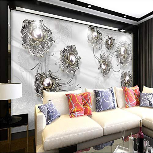 Custom 3D Wall Paper Boutique High End Relief Flash Gold Flower 3D Wallpaper Live Room Tv Decoración De La Pared Pintura,300 * 210Cm