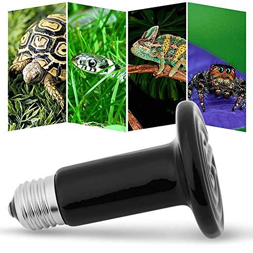 HEEPDD Keramische Wärmelampe, kein Licht Infrarot Keramikstrahler für Reptilien Amphibien Hamster Schlangen Vögel Geflügel Hühnerstall Lebensräume 220-230V(100W)