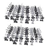 perfeclan 120 Piezas Modelo Soldado Estatuilla Caballeros Medievales Guerreros Caballos