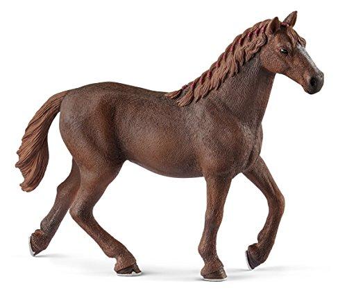 Schleich-13855 Yegua purasangre Inglesa, Color marrón (13855)