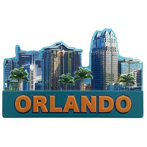 The City of Orlando Skyline Souvenir Super-magnetic Refrigerator Magnet