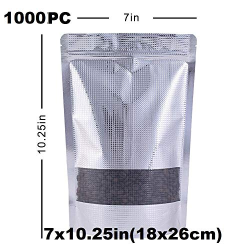 Fantastic Deal! Durable and Wonderful 100PC- 7x10.25in(18x26cm) Stand up Zip Lock Bag Aluminum Embos...