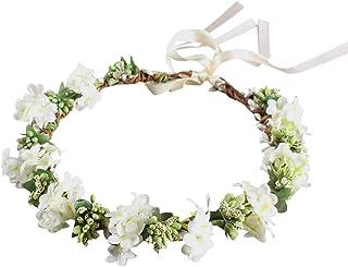 Farantasy造花ファッション美しい現実的な結婚式の花の花輪のヘッドバンドの女性のリース花嫁介添人の女の子のヘアアクセサリー