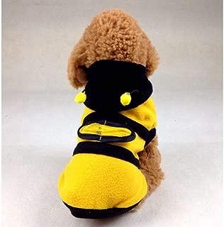 ペット服 防寒 秋冬服 ペットウェア犬服猫服 コート 人気 変身ミツバチ ファッション小型犬用品 おしゃれ かわいい犬の服 脱毛保護 通気 犬猫洋服 ドッグウェア お散歩お出かけウェアに