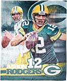 NFL Green Bay Packers Aaron Rogers Players Silk Touch Throw Blanket, 50' x 60'