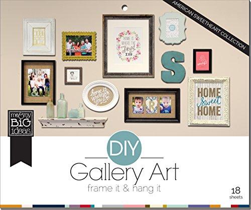 me & my BIG ideas American Sweetheart DIY Gallery Art