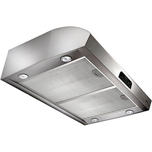 Broan Evolution QP4 Series QP430SS 30' High Performance Under-Cabinet Range Hood 4 Halogen with Theater-Style Transitions Easy-to-clean Advanced Heat Sentry: Stainless