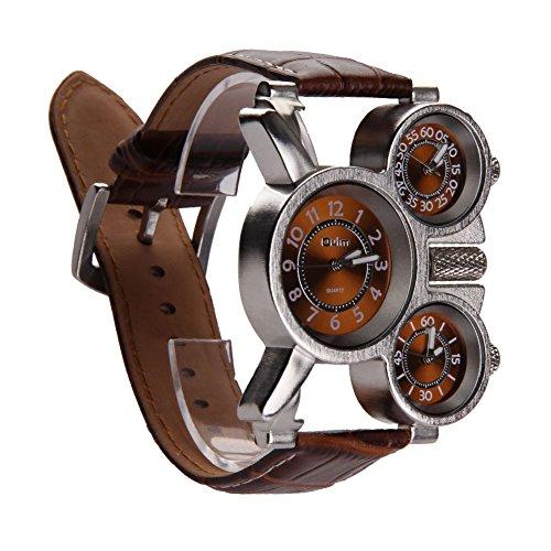Unterbrechen Oulm Herren-Armbanduhr mit Braun 3-movt Zifferblatt braun 23mm Edelstahl Band