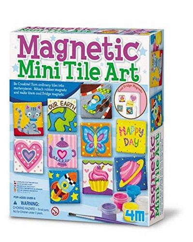 Great Gizmos Magnetic Tile Art - Kit de creación de mosaicos magnéticos (en inglés)
