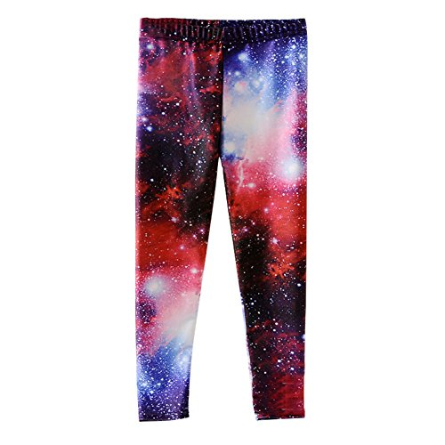 Mxssi Hip Hop Show Kleidung für Mädchen Kinder Studenten Hosen Hosen Mädchen Leggings Drucken Galaxy 3D 1010 M