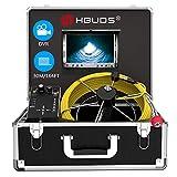 Cámara de Inspección de Tuberías, Drain Sewer Endoscopio industrial Sistema de video IP68 a prueba de agua con grabadora de DVR con monitor LCD de 7 pulgadas (tarjeta de 8GB SD incluida)