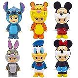 CYSJ 6 Piezas Juego de Minifiguras de Mickey Suministros para Fiesta de cumpleaños Figuras para Cupcakes decoración para Tartas Suministros para decoración de Tartas
