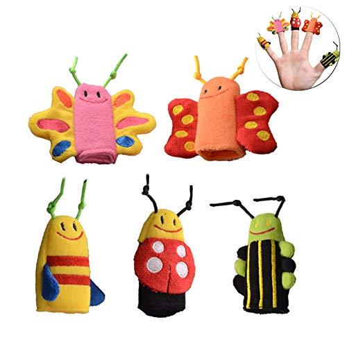 5PCS Juego Marionetas Dedo Juguete Interactivo Forma