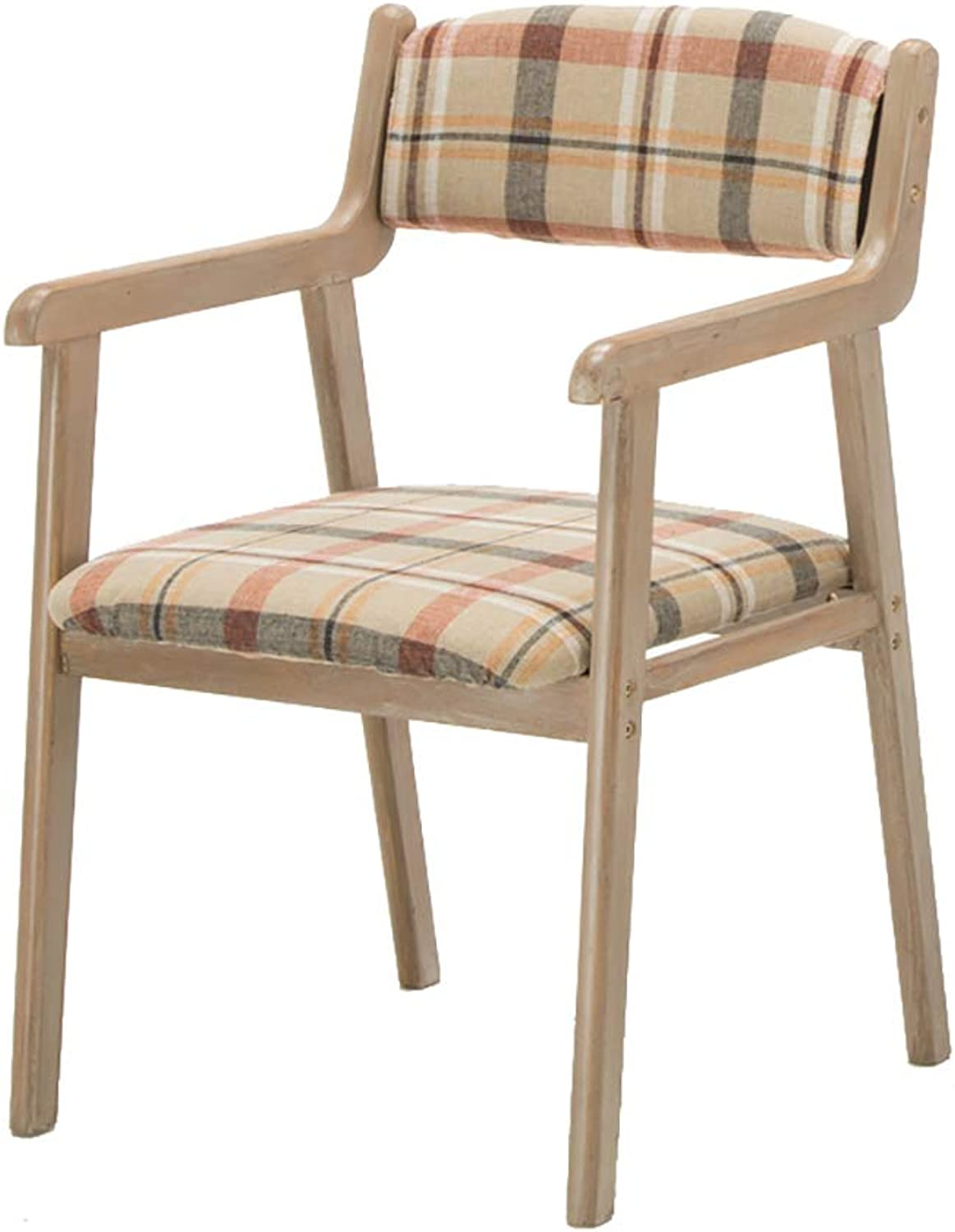 Nordic Style Dining Chair,Ergonomic Design Armchairs,Solid Wood Frame & High Resilience Sponge,for Kitchen Dining Living Family Room Bedroom Porch Patio Balcony Decor Furniture