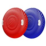 Float World Snow Tube Two Pack for Adults - Large 48' Heavy Duty Inflatable Sleds - 2X Durable Snow Tubing Winter Toy for Sledding (2 Pack)
