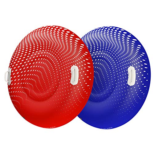 Float World Snow Tube Two Pack for Kids and Adults - Large 48' Heavy Duty Inflatable Sleds for...