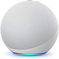 Echo (4th Gen, 2020 release) | Premium sound powered by Dolby and Alexa (White)