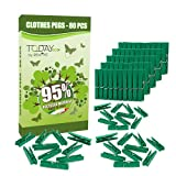 Remake 80 Piezas - Pinzas Ropa Ecológico 95% con Plastico Reciclado, Talla Grande. Molde...