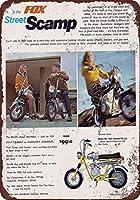 警告金属ノベルティサインアルミニウム、1969 フォックスストリートスキャンプミニバイク、パークサインパークガイド警告サイン私有財産の金属屋外危険サイン