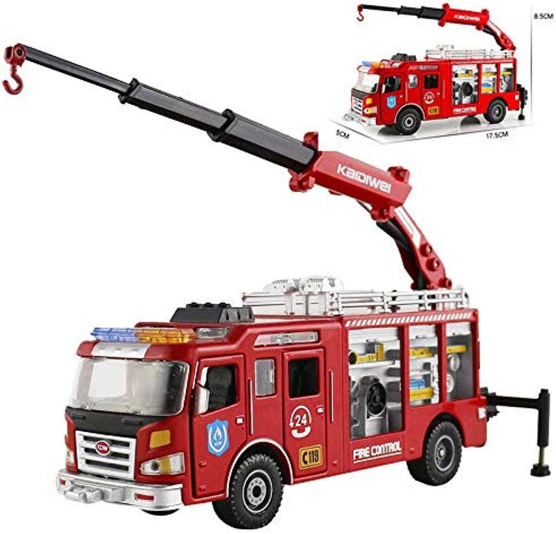 FidgetGear Fire Engine Truck Construction Vehicle Car Model Toy 1 50 Scale Diecast in Box