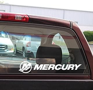 Mercury 18-Inch Decal - White