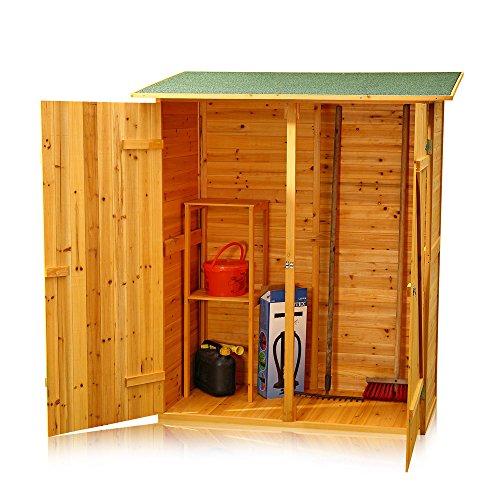 Melko Gerätehaus XXL Geräteschrank Geräteschuppen Gartenschrank, aus Holz, braun, 162 x 140 x 75 cm - 4