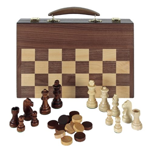 Aquamarine Games- Ajedrez, Damas y Backgammon en maletin (Compudid FD100616)