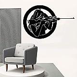 supmsds Creativo Pistola e Bellezza Wall Art Decalcomania Decorazione Moda Adesivo per Camera dei Bambini Decorazione Wall Art murale Goccia di Pietra 60X91CM