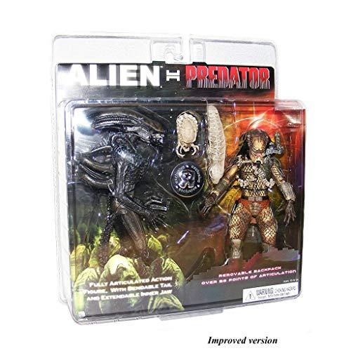 Jiaming Exclusivo Figura de acción de Paquete de 2 Alien VS.Depredador