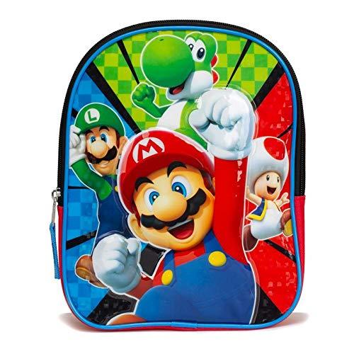 Super Mario Kids Toddler Backpack Book Bag Preschool Mini 10' Gift Toy