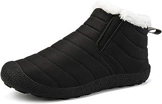 Botte De Neige Imperméable De Bottes d'hiver des Femmes des Hommes, Chaussures De Réchauffement Respirantes Antidérapantes...