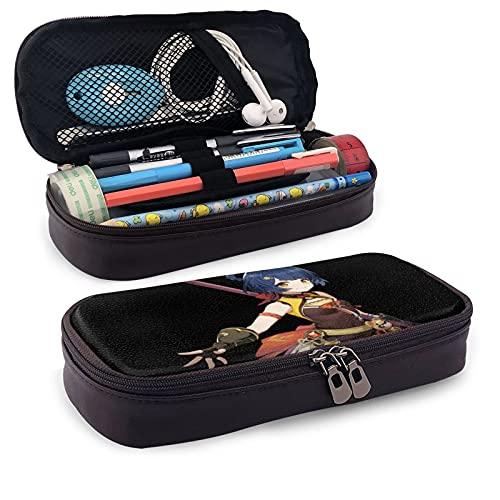 Gen-shin Im-Pact - Estuche para lápices de gran capacidad, plegable, multiusos, para escuela, oficina, cosméticos, accesorios de viaje
