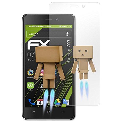 atFolix Bildschirmfolie kompatibel mit Haier L55S Spiegelfolie, Spiegeleffekt FX Schutzfolie