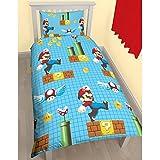 Nintendo Super Mario Maker 'Reversible' UK Single/US Twin Duvet Cover with Matching Pillow Case Bedding Set
