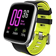 YAMAY Smart Watches,Waterproof IP68 Smartwatch Fitness Watch Running Watch with Heart Rate Monitor Pedometer Stopwatch Sleep Monitor Watch for Men Women Smart Notifications for iOS Android Phone