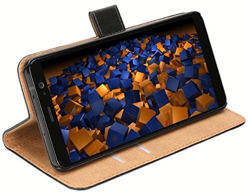 mumbi Tasche Bookstyle Hülle kompatibel mit HTC U11 Plus Hülle Handytasche Hülle Wallet, schwarz