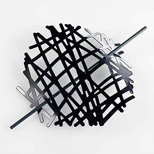 Raffhalter für den Innenbereich (0) 17 cm, Metall, lackiert, Schwarz