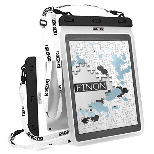 防水ケース タブレット 13インチ 10.5インチ WATERPOF CASE 防水ケース 大型タブレット対応 防水ケース 専用ピック ネックストラップ キックスタンド付 【Fire HD10/iPad Pro 10.5/12.9/Xperia Z/Z2/Z4 Tablet/Surface Pro/2/3/4/FJX/Surface RT/2/3/Diginnos/ideapad Miix/TransBook/MateBook 記載以外も対応】