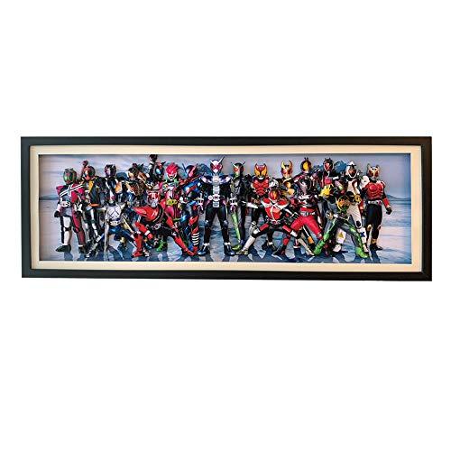 AooCare 仮面ライダー 画 周辺 グッズ 立体絵 飾り 絵飾り 壁飾り 手作り 3D 立体 プレゼント DIY インテリア オリジナル