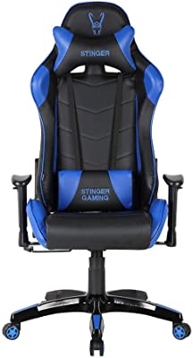 Woxter Stinger Station Blue -Silla Gaming (Eje Acero,Sistema de Levantamiento (Gas